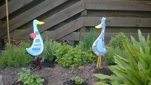 Makerist - Gartenfiguren Enten aus Holz - 1