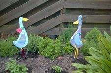 Makerist - Gartenfiguren Enten aus Holz - 1
