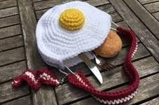 Makerist - Handtasche BACON & EGGS von crochetmama - 1