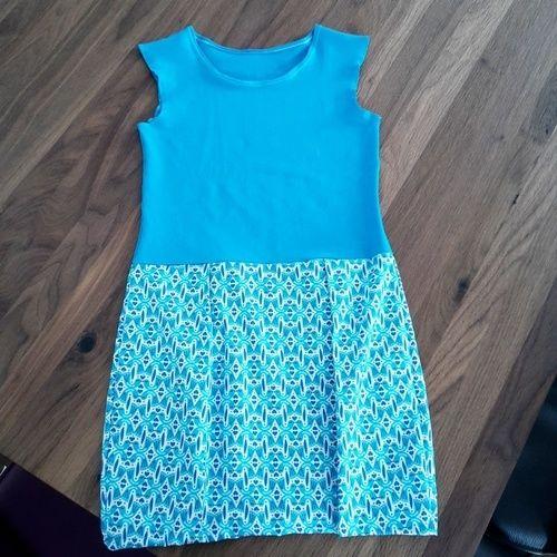 Makerist - Ein Kinderkleid Sally in blau für meine Tochter - Nähprojekte - 2