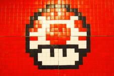 Makerist - 1up aus Mosaiksteinen auf Leinwand - 1