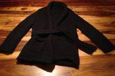Makerist - Kuschlige Kimono Jacke in schwarz - 1