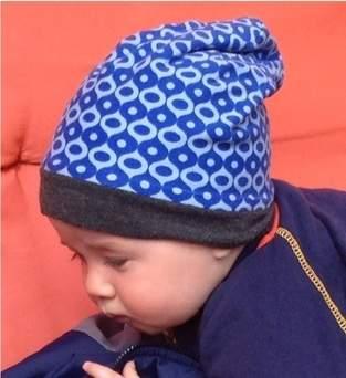 Makerist - Blaue Baby Beanie aus Jersey - 1