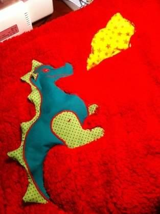 Makerist - Kuscheldecke  feuerspeiender Drache  für meinen Enkel - 1