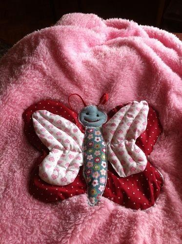 Makerist - Kuscheldecke Schmetterling   für meine jüngste Enkeltochter - Nähprojekte - 2