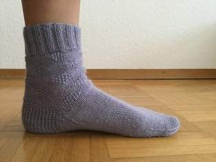 Makerist - Socken mit Rautenmuster - 1