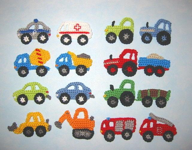 Makerist - Kleine Fahrzeug Applikationen - Häkelprojekte - 1