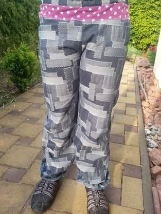 Makerist - Ballonhose Svenna aus Jeans mit Jersey-Einsatz - 1