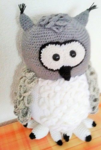 Makerist - Schneeeule Hedwig - Häkelprojekte - 1