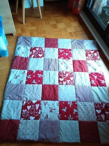 Makerist - Meine 2.Patchworkdecke, für meine Mama zum 70. Geburtstag - Nähprojekte - 1