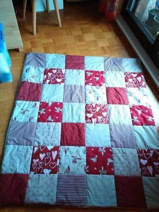 Makerist - Meine 2.Patchworkdecke, für meine Mama zum 70. Geburtstag - 1