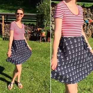 Makerist - Kleid Ella in maritimem Look für mich genäht  - 1