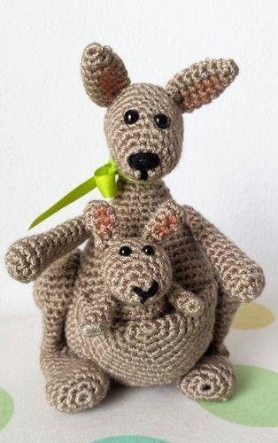 Makerist - Känguruh Mama mit Baby - Häkelprojekte - 1