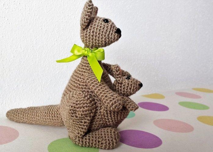 Makerist - Känguruh Mama mit Baby - Häkelprojekte - 3