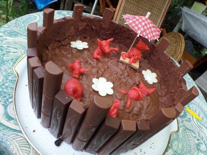 Makerist - Sweinchen im Matsch - Torten, Cake Pops und Cupcakes - 1
