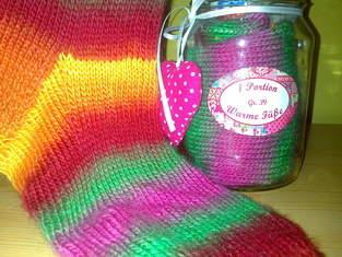 Makerist - Socken im Glas Regenbogen - 1