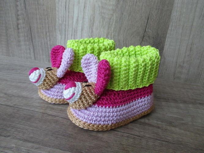 Makerist - Zuckersüße Babybooties - Häkelprojekte - 1