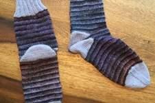 Makerist - Socken mit zwei verschiedenen Garnen - 1