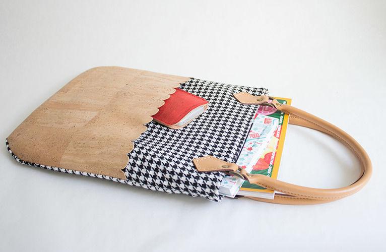 Makerist - Retrobeutel mit Kork - Nähprojekte - 1