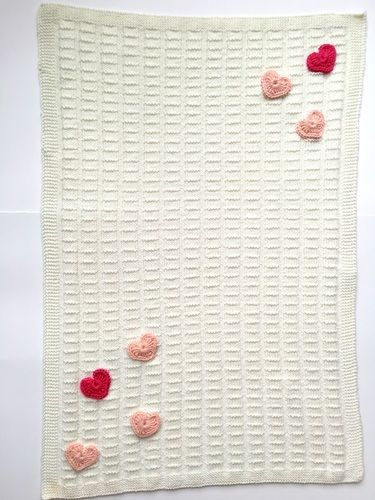 "Makerist - Babydecke ""My Heart"" - Strickprojekte - 1"