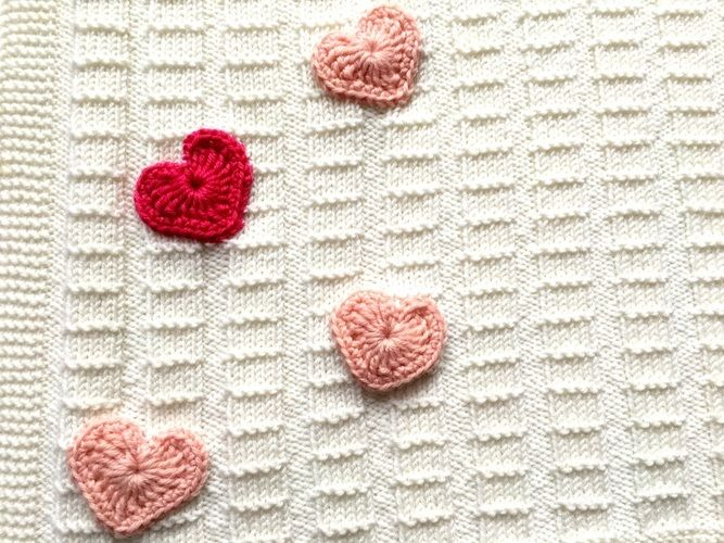 "Makerist - Babydecke ""My Heart"" - Strickprojekte - 2"