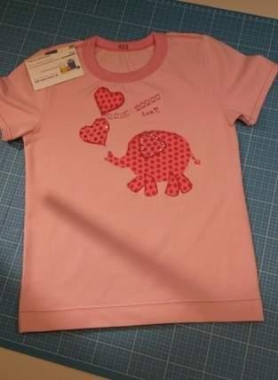 Makerist - wie ein kleiner rosa  Elephant auf ein T-Shirt kommt...  - 1