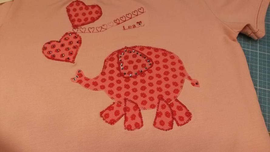 Makerist - wie ein kleiner rosa  Elephant auf ein T-Shirt kommt...  - Nähprojekte - 2