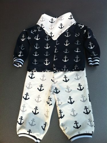 Makerist - Maritimes Baby Outfit aus Jersey - Nähprojekte - 1