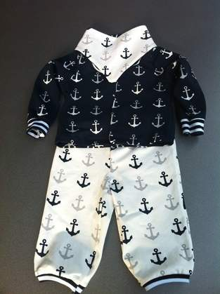 Makerist - Maritimes Baby Outfit aus Jersey - 1