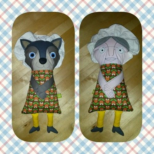 Makerist - Großmutter und Wolf - Eine tolle Idee! 2. Foto auch ansehen! - Nähprojekte - 1