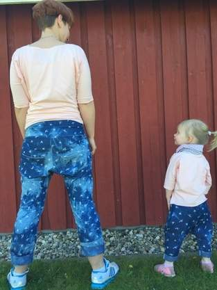 Makerist - Partnerlook - Mama Tochter - Girlfriendhose aus leichtem Jeans  - 1