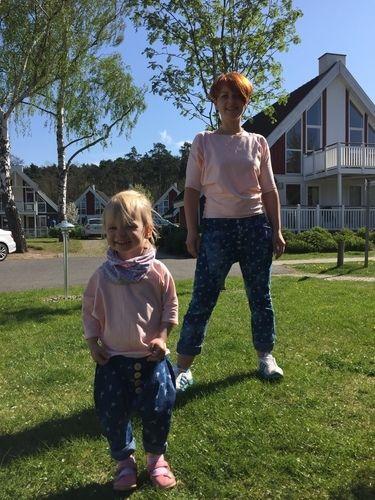 Makerist - Partnerlook - Mama Tochter - Girlfriendhose aus leichtem Jeans  - Nähprojekte - 2