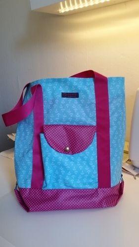 Makerist - Einkaufstasche aus beschichteter Baumwolle  - Nähprojekte - 1