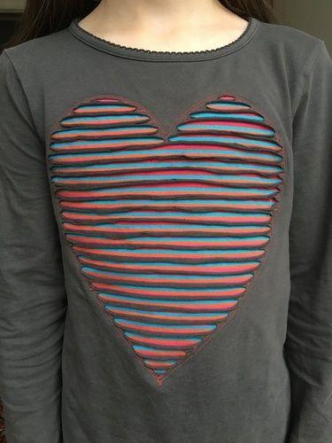 Makerist - Herz in Chenille Technik aufsticken - Textilgestaltung - 1