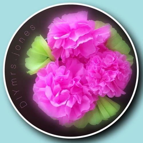 Makerist - Blumen aus Krepppapier, als Frühlingsboten. - DIY-Projekte - 1