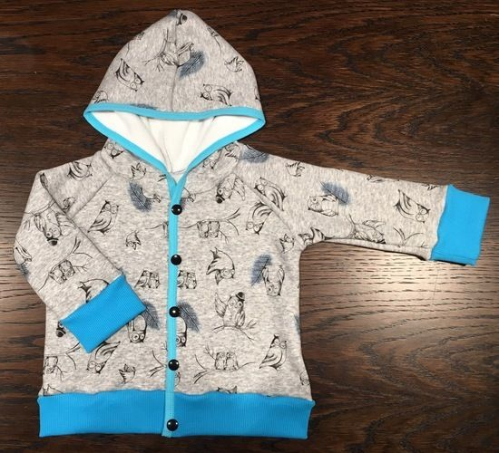 Makerist - Eulen-Hoody-Jacke, für meinen kleinen Sonnenschein - Nähprojekte - 1