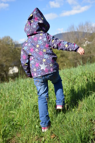 Makerist - kuschelige Kinderjacke - Sternensoftshell - Nähprojekte - 2