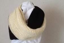 Makerist - grande Echarpe anneau bicolore - 1