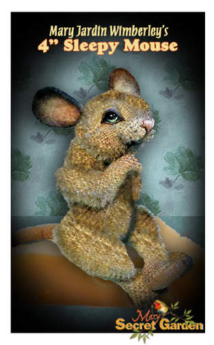 "Makerist - 4"" Sleepy jointed mohair mouse by Mary Wimberley - 1"