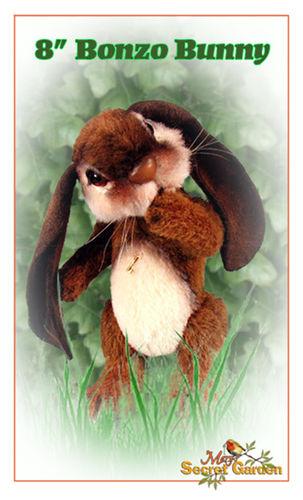 "Makerist - 8"" Bonzo Bunny alpaca jointed bunny with lop ears - Crochet Showcase - 1"