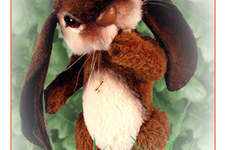 "Makerist - 8"" Bonzo Bunny alpaca jointed bunny with lop ears - 1"