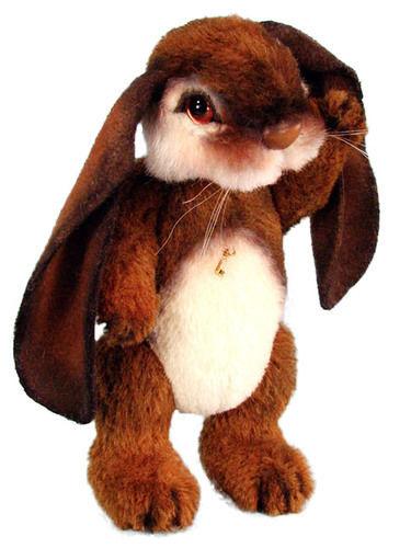 "Makerist - 8"" Bonzo Bunny alpaca jointed bunny with lop ears - Crochet Showcase - 2"