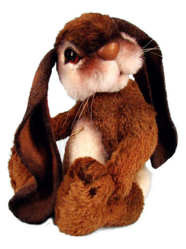 "Makerist - 8"" Bonzo Bunny alpaca jointed bunny with lop ears - Crochet Showcase - 3"