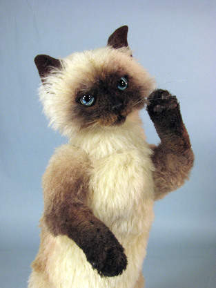 """Makerist - 12"""" alpaca fully posable realistic cat collectible - 1"""
