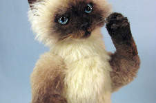 "Makerist - 12"" alpaca fully posable realistic cat collectible - 1"
