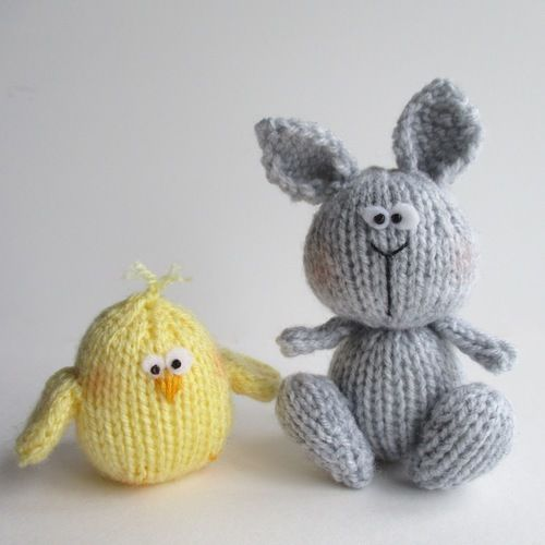 Makerist - Bunny and Chicky - Knitting Showcase - 1