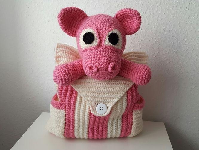 Makerist - Rucksack Schwein  - Häkelprojekte - 1