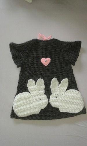 """Makerist - mein Kleid """"Verliebte Hasen""""  - Häkelprojekte - 1"""