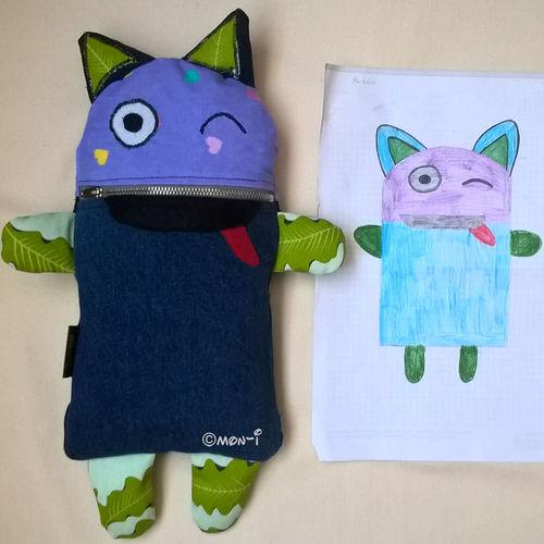 Makerist - Sorgenfresser nach Zeichnung - Nähprojekte - 1