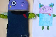 Makerist - Sorgenfresser nach Zeichnung - 1